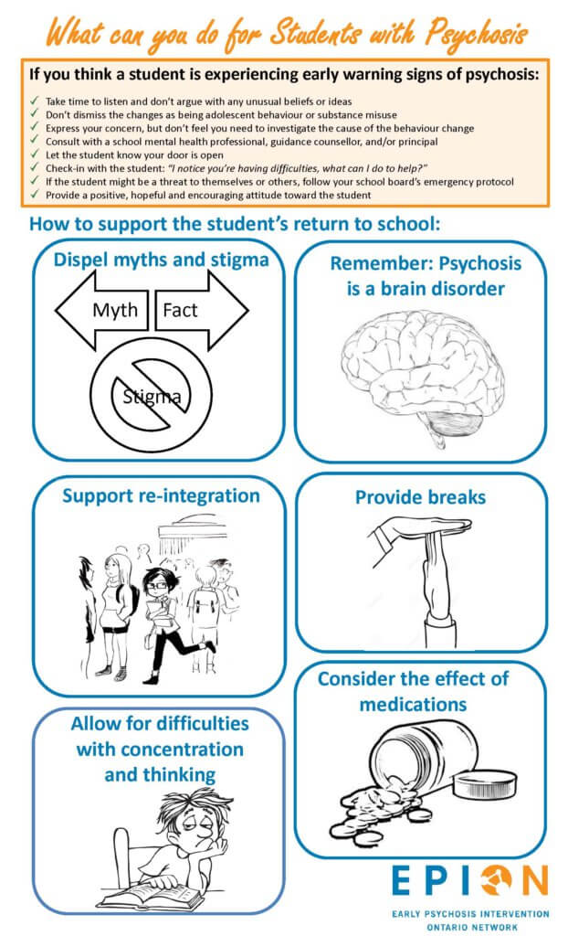 What can you do for students with Psychosis