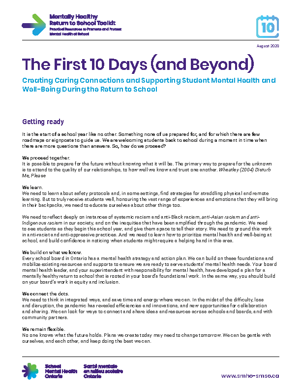 First Ten Days (and Beyond)