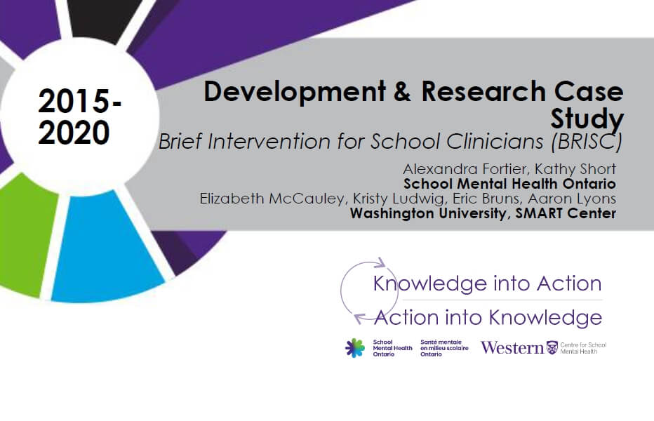 Brief Intervention for School Clinicians (BRISC)